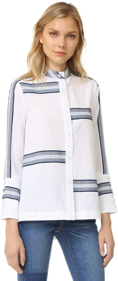 Derek Lam 10 Crosby Bell Sleeve Button Down Shirt $395 thestylecure.com
