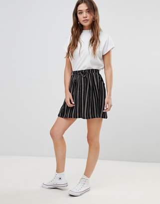 Brave Soul louisa stripe skirt with tie waist