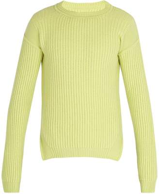 Rick Owens Fisherman ribbed-knit wool sweater