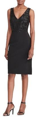 Women's Lauren Ralph Lauren Embellished Sheath Dress $185 thestylecure.com