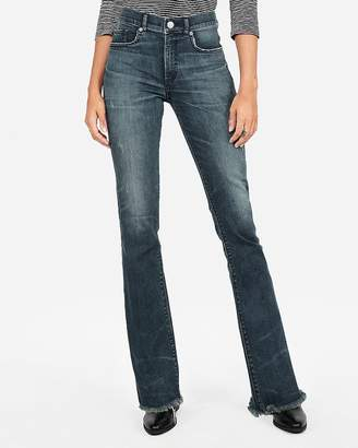 Express Petite High Waisted Denim Perfect Stretch+ Barely Boot Jeans
