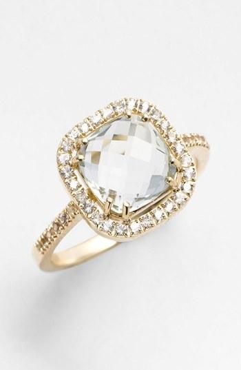 Suzanne Kalan KALAN by Cushion Stone Sapphire Bezel Ring