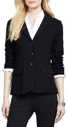 Lauren Ralph Lauren Petite Cotton Sweater Blazer