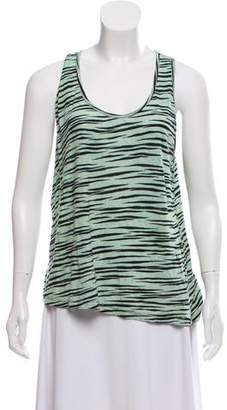 Proenza Schouler Animal Print Sleeveless Top