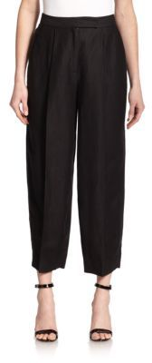 Cropped Pleated Pants $280 thestylecure.com
