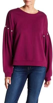 Rebecca Minkoff Ellison Embellished Balloon Sleeve Sweatshirt
