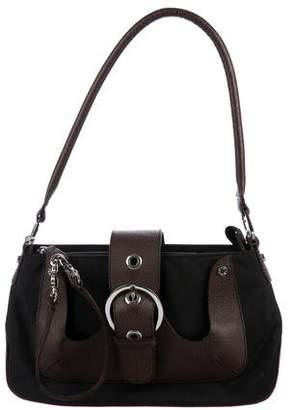 Lancel Leather-Trimmed Nylon Shoulder Bag