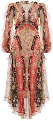 Zimmermann Veneto Flounce Long Dress
