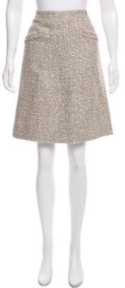 Chanel Knee-Length Tweed Skirt
