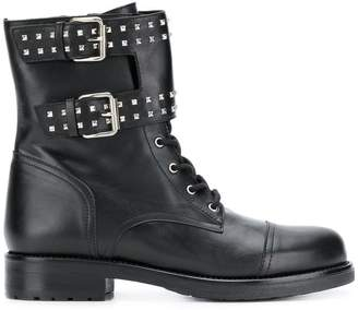 Albano buckle detail ankle boots