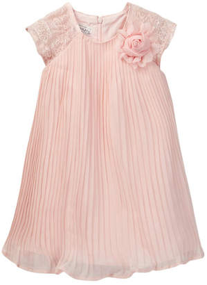 Pippa & Julie Lace Sleeve Pleated Dress (Toddler & Little Girls) $58 thestylecure.com