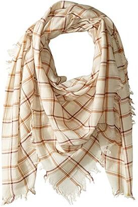 Chan Luu 100% Wool Plaid Scarf