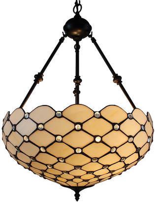 Tiffany & Co. AMORA Amora Lighting AM1117HL18 Style Ceiling Hanging Pendant Lamp 18-Inch 2 Lights