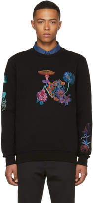 Paul Smith Black All Over Floral Embroidery Sweatshirt
