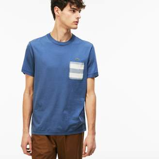 Lacoste Men's Striped Pocket Cotton T-Shirt
