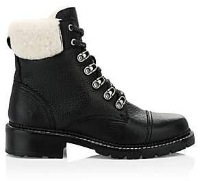 Frye Women's Samantha Shearling & Leather Hiking Boots