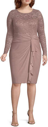 BLU SAGE Blu Sage Long Sleeve Party Dress-Plus
