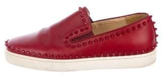 Christian Louboutin Pik Boat Flat Sneakers