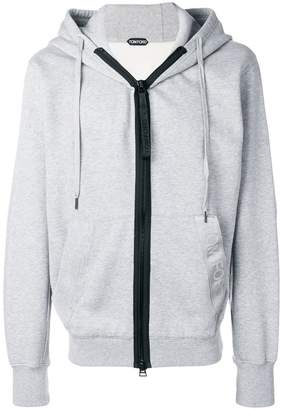 Tom Ford oversized zip front hoodie