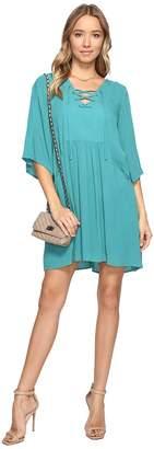 BB Dakota Becton Lace-Up Dress Women's Dress