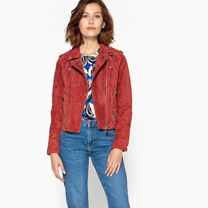 Cropped Faux Suede Jacket