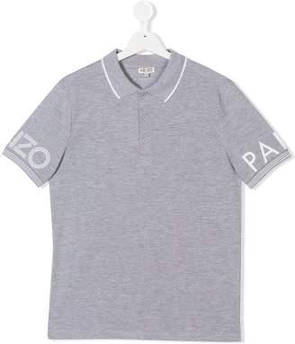 Kenzo TEEN logo sleeve polo shirt