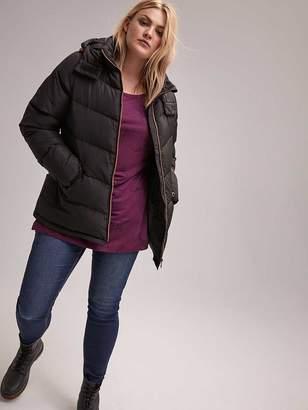 Short Down Puffer Jacket with Hood - LIVIK