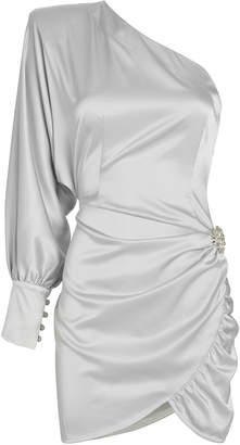 retrofete Drisana Satin One Sleeve Dress