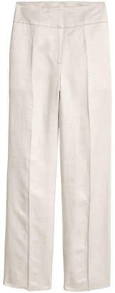 H&M Linen-blend Suit Pants - White