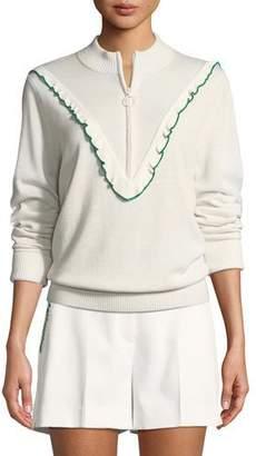 Tory Sport Half-Zip Cashmere/Coolmax Performance Sweater