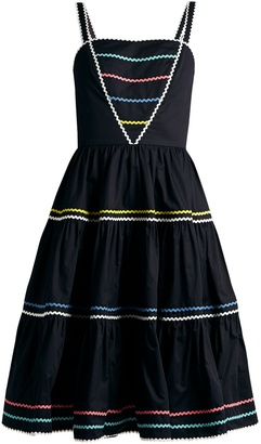 ANNA OCTOBER Ric-rac trimmed cotton dress $717 thestylecure.com