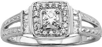 Vera Wang Simply Vera Diamond Halo Engagement Ring in 14k White Gold (1/3 ct. T.W.)