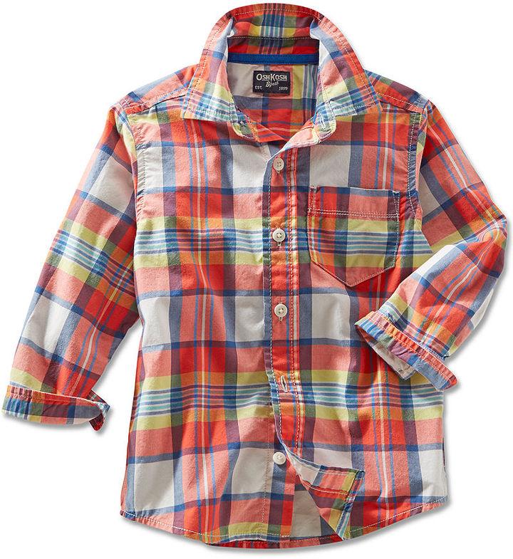 Osh Kosh Toddler Boys' Plaid Shirt