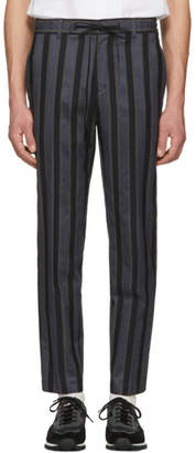 Christian Dada Navy Stripe Trousers