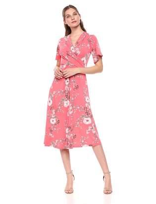 Chaus Women's 3/4 SLV Secret Garden V-Neck Dress