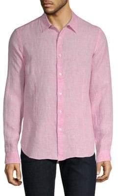 Orlebar Brown Morton Tailored-Fit Linen Button-Down Shirt