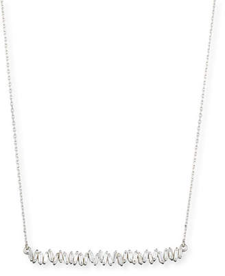 Suzanne Kalan 18K White Gold Diamond Baguette Necklace, 0.56 tdcw