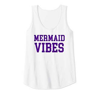 Womens Mermaid Vibes Vintage University Varsity Athletic Graphic Tank Top