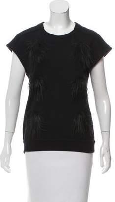 Stella McCartney Faux Fur-Accented Sleeveless Top Black Faux Fur-Accented Sleeveless Top