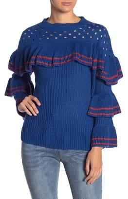 Love + Harmony Long Tiered Sleeve Knit Sweater