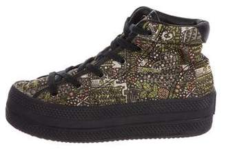 Chloe Sevigny for Opening Ceremony Printed High-Top Sneakers