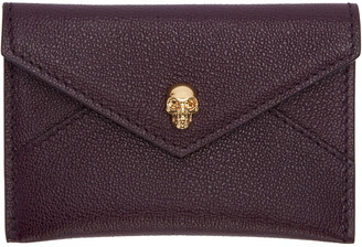 Alexander McQueen Purple Skull Card Holder $195 thestylecure.com