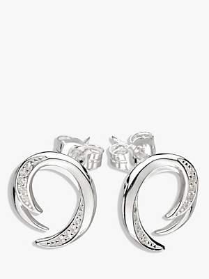 Kit Heath Twist Cubic Zirconia Stud Earrings, Silver