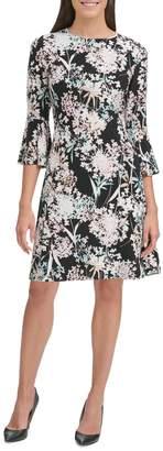 Tommy Hilfiger Bell Sleeve Floral Shift Dress