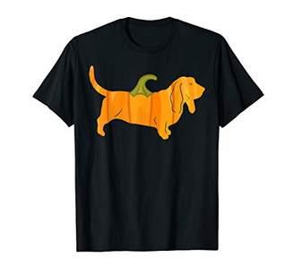Women Halloween Pumpkin Basset Hound Owners Gift T-Shirt