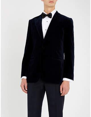 Gieves & Hawkes Regular-fit velvet blazer