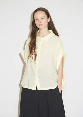Y's Short Sleeve Button Front Blouse