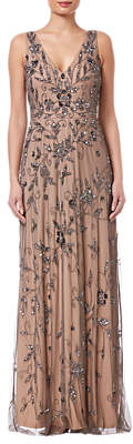 Adrianna Papell Maxi Beaded Dress, Lead