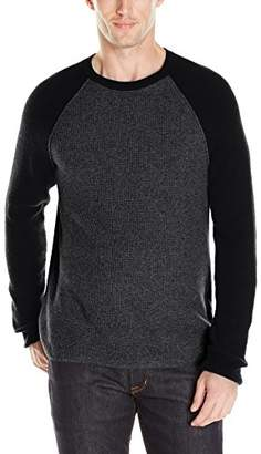 Lucky Brand Men's Colorado Cross-Stitch Baseball Sweater