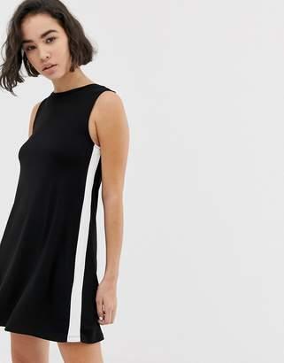 Pull&Bear side stripe swing dress in multi
